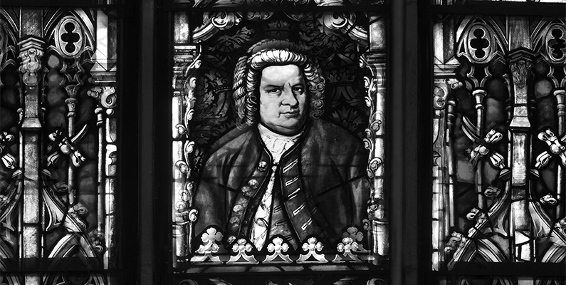 Bach portrait, Thomaskirche, Leipzig, photo. © Bednorz Images/Bridgeman Images