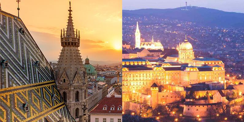 Budapest and Vienna